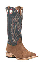 Old Gringo Men's Tan with Blue Upper Cowhide Leather Western Square Toe Boots