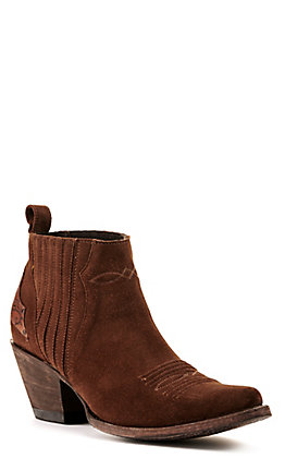 Yippee Ki Yay by Old Gringo Women's Layra Chocolate Brown Suede R-Toe Bootie