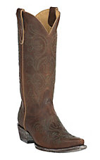Old Gringo Yippee Ki Yay Women's Oryx Brown Ashton Stitched Snip Toe Western Boots