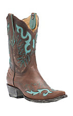 Old Gringo Yippee Ki Yay Women's Vintage Orix with Aqua Inlay Pointed Snip Toe Western Boots