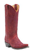 Old Gringo Yippee Ki Yay Women's Vitro Red with Rose Embroidery Snip Toe Western Boots