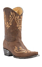 Old Gringo Yippee Ki Yay Women's Vintage Brown Orix with Embroidery & Studs Snip Toe Western Boots