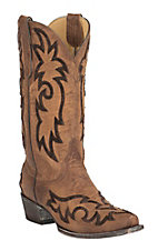 Old Gringo Women's Satillo Brass with Chocolate Heavy Stitch Snip Toe Western Boots