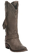 Old Gringo Yippee Ki Yay Women's Chocolate with Side Fringe and Silver Accents Round Toe Fashion Boots