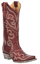 Yippee Ki Yay By Old Gringo Women's Red Victoria Stitched Western Snip Toe Boots