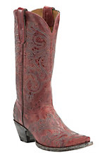 Old Gringo Yippee Ki Yay Women's Red Night Hawk Stitched Snip Toe Western Boots