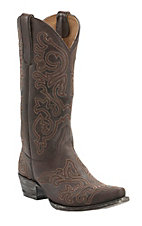 Old Gringo Yippee Ki Yay Women's Chocolate Night Hawk Stitched Snip Toe Western Boots