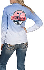 Cavender's Women's Clearview Longhorn Long Sleeve T-Shirt