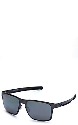 Oakley Holbrook Metal Matte Gunmetal with Prizm Black Polarized Lenses Sunglasses