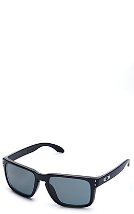 Oakley Holbrook Matte Black with Prizm Grey Lenses Sunglasses