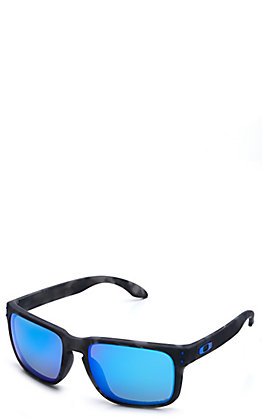 Oakley Holbrook Matte Black Tortoise with Prizm Sapphire Polarized Lenses Sunglasses