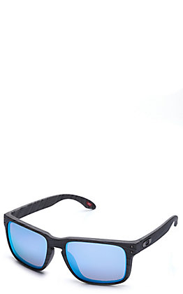 Oakley Holbrook Woodgrain with Prizm Deep Water Polarized Lenses Sunglasses