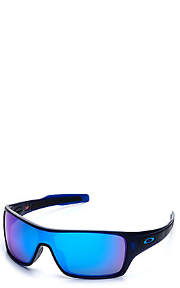 Oakley Turbine Rotors Matte Translucent Blue with Prizm Sapphire Lenses Sunglasses