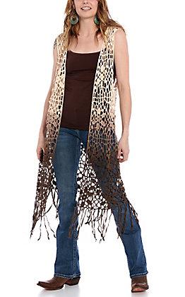 Origami Women's Ombre Crochet Vest