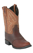 Old West Childrens Brown Western Boot w/ Tan Top