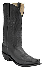 Old West Jama Ladies Black Vintage Snip Toe Western Boot