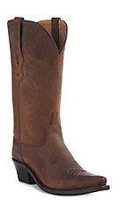 Old West Jama Women's Distressed Brown Snip Toe Western Boots