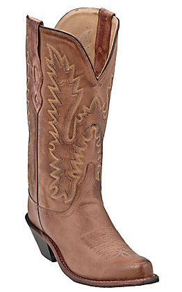 Old West Jama Women's Classic Tan Handcrafted Western Boots