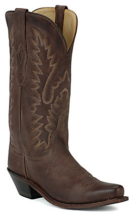 Old West Women's Classic Chocolate Mad Dog Snip Toe Western Boot