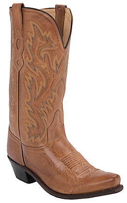 Old West Men's Tan Mad Dog Snip Toe Western Boot