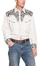 Scully Western Legends Gunfighter White with Black Embroidery