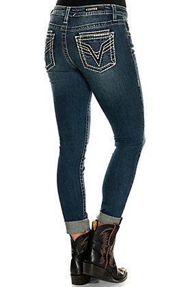 Vigoss Women's Georgia Dark Wash Classic Fit Legacy Stretch Skinny Leg Jeans