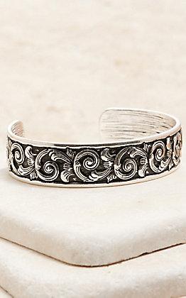 Amber's Allie Silver Cuff Bracelet