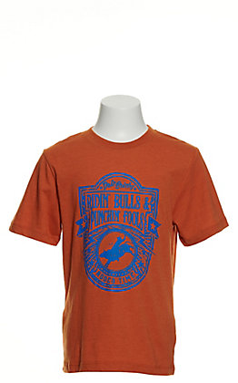 Rodeo Time Dale Brisby Boys' Orange Ridin' Bulls Punchin' Fools Short Sleeve T-Shirt