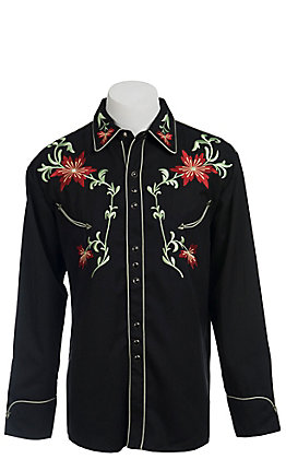Scully Men's Black Western Legends Jerrico Retro Shirt