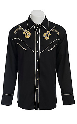 Scully Western Mens Shirt P665BLK