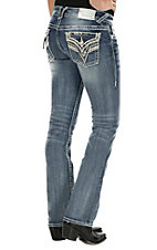 Vigoss Women's The New York Boot Cut Light Wash Jean  P6858A