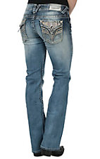 Vigoss Women's The New York Boot Cut Light Wash Jean  P6966A