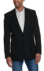 Scully Black on Black Embroidered Sportcoat