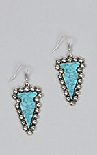 Amber's Allie Turquoise Arrowhead Earrings