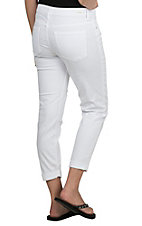 Sneak Peek Women's White with Distressed Details Boyfriend Jeans