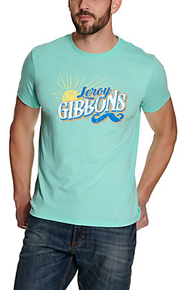 Rodeo Time Dale Brisby Men's Turquoise Leroy Gibbons Short Sleeve T Shirt