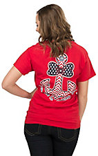 Girlie Girl Women's Red From Sea to Shining Sea Bow Anchor