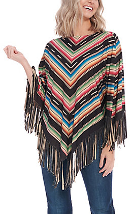 Montana West Black Serape Poncho