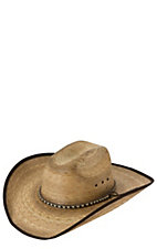 Cavenders 15X Burnt Ponderosa Palm w/ Brown Bound Edge Cowboy Hat