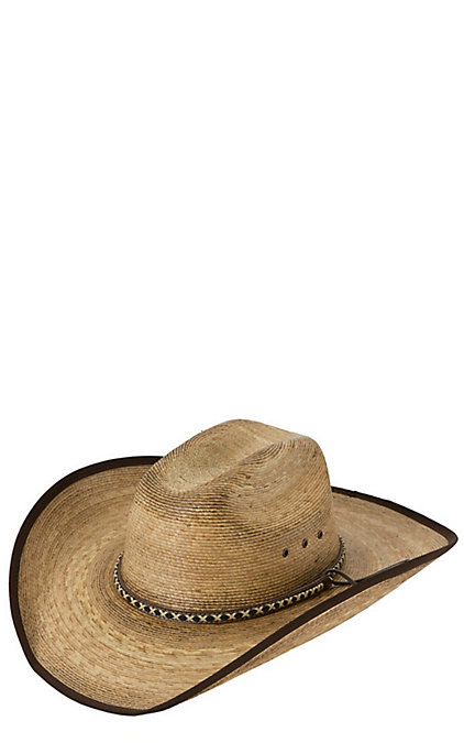 Cavender's 15X Burnt Ponderosa Palm with Brown Bound Edge Cowboy Hat