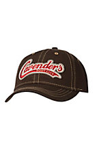 Cavender's Solid Chocolate with Baseball Logo Cap PDG79501CH