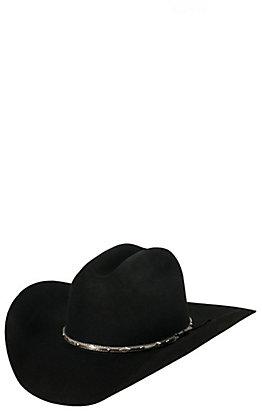 Cavender's 3X Brindle Black Premium Wool Cowboy Hat