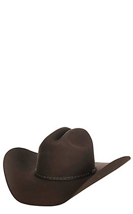 Cavender's Cowboy Collection 3X Chocolate Premium Wool Cowboy Hat