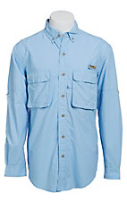 Wrangler Men's Blue Angler L/S Shirt PG938BLX- Big & Tall Sizes