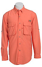 Wrangler Men's Orange Angler L/S Shirt PG938OR