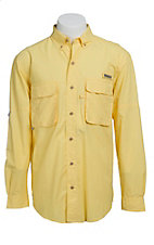 Wrangler Men's Yellow Angler L/S Shirt PG938YLX- Big & Tall Sizes