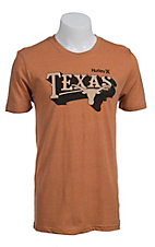 Hurley Men's Burnt Orange with Black and Tan Texas and Longhorn Short Sleeve Tee