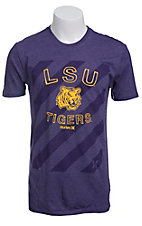 Hurley Men's Purple with Purple Stripes LSU Tigers Short Sleeve Tee