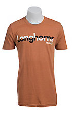 Hurley Men's Burnt Orange with Black and White Longhorns Short Sleeve Tee