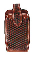 3-D Belt Company Basket Weave Vertical Cell Phone Holster